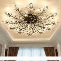 현대 샹들리에 노르딕 K9 크리스탈 LED 천장 조명기구 거실 침실에 대 한 골드 블랙 홈 램프 부엌 욕실