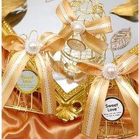 الحزب صالح 500 قطع الذهبي الطيور قفص جرس الحلوى مربع الاحتفال الزفاف الضيوف العودة هدية التعبئة والتغليف