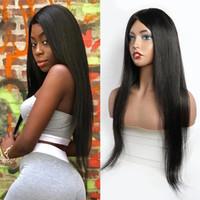 Прямые человеческие волосы парики для женщин черный парик Полная машина 150% Современный Показать бразильский парик волос Fast Бесплатная доставка Номера шнурка 10-28 дюймов