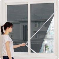 屋内昆虫フライスクリーンカーテンメッシュバグ蚊取り止め扉窓シアーカーテン