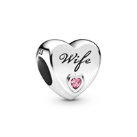 2020 New Authentic ALE 925 Sterling Silver Pink Wife Love He...