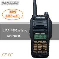 BAOFENG UV-9R PLUS 10W 4800MAH يتحملها 10KM UHF VHF ماء محمول محطة راديو CB محمول HF جهاز الإرسال والاستقبال الماسح الضوئي