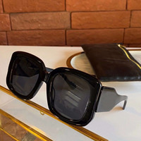 Gafas de sol de gran tamaño cuadrados b 0069s Negro Gris Lente OCchiali da las mujeres Firmati suela las gafas de sol de partido con caja