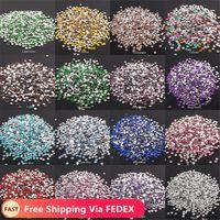 2-6mm 1000pcs Strass cristallo cristallino AB Non hotfix flatback shinestones strass per vestiti chiodi 3d nail art decorazione