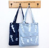 2020 fashion luxury Newly denim handbag single shoulder totes student, girls book carrying bag woman leisure shopping bag deep light blue