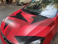 PVC auto Jumbo Rosso Nero Camo pellicola dell'involucro del vinile della bolla DIY Styling camuffamento Wrapping Sticker