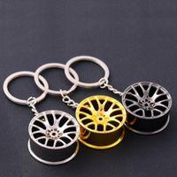 Catena Fit Wheel Rim portachiavi creativo automatico Parte dell'anello portachiavi chiave della lega Portachiavi Titolare fob