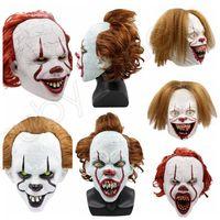 5Styles Cadılar Bayramı Silikon Film Stephen King'in It 2 Joker Pennywise Tam Yüz Korku Palyaço Cosplay Prop Parti Maskeler RRA3628 Maskesi