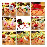 Праздничные рождественские украшения очки Рамки Декор партии вечера игрушки дети Кролик Подарки