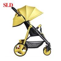 Passeggini # SLD Baby Strolle possono essere utilizzati come auto da paracadute pieghevole portatile e portatile e su aeromobili per 0-3 anni High-V-V