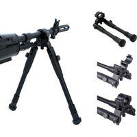 Airsoft M4 AR 15 accessori in alluminio tattico in lega di alluminio regolabile 6-9 pollici del fucile BiPod per la caccia alle riprese nera