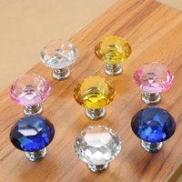 30mm Diamant-Kristall Türgriffe Glasschubladengriffe Küchenschrank Möbelgriff Drehknopf-Schraube Griffe und Pulls LX2903