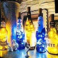 2M 20LED Lampe Cork geformte Flaschen-Stopper Light Glas Wein LED Kupferdraht-Schnur-Licht für Weihnachtsfest-Hochzeit Halloween
