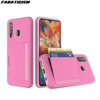 Identifikation-Kreditkarte-Halter-Mappen-Telefon-Abdeckung für Samsung-Galaxie J2 J4 J7 Prime J6 Plus-A20 A30 A50 Stoß- Ständer Flip Case