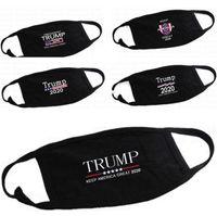 US STOCK! Trump Masques visage anti-poussière Coton Femme Homme Unisexe Mode hiver chaud Masque Drapeau Noir États-Unis
