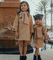 Küçük Kızlar Palto Pamuk Kış Askıları Şık Modası Dış Giyim Sonbahar Ön Cepler Çocuk Erkek Gilrs Coat 1-6 T