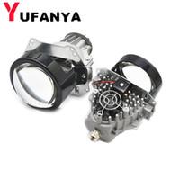 Voiture de lentille de projecteur 35W BI LED retrofit modifier Haute Basse faisceau LED Universial de phare caché lentille xénon adapter h1 h4 h7 d1