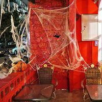 2020 Halloween Spaventoso partito puntelli bianco elastico Cobweb di moda divertente Ragnatela Haunted House Halloween decorazioni di regalo dei capretti Giocattoli D81801