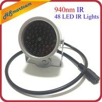 Nuovo illuminatore invisibile 940nm a infrarossi a infrarossi a 60 gradi 48 luci IR a LED per telecamera CCTV Security 940nm IR (contiene energia 12v1a)