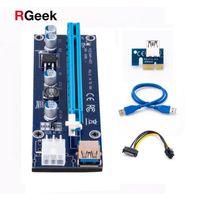 Golden VER009 USB 3.0 PCI-E Riser VER 009S Экспресс 1X 4x 16x Extender Riser Card адаптер SATA 15pin на 6-контактный разъем питания кабель