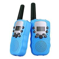 2 pcs / ensemble enfants jouets 22 canaux Walkie Talkies Toy Toy Two Way Radio UHF Long gamme Emetteur-récepteur de poche pour enfants