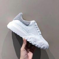 أفضل المتضخم مدرب المحكمة الرجال النساء مصمم الأزياء منصة أحذية رياضية العجل جلد أسود أبيض رياضة الرجال النساء عارضة الأحذية