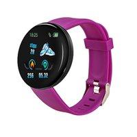 D18 الذكية ووتش الرجال النساء ضغط الدم المسار بلوتوث smartwatch الرياضة d13 smartband 116 زائد الساعات الذكية لالروبوت ios