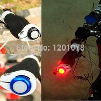 1Pair Безопасность Велоспорт велосипед сигнала поворота ручки Bar End подключи LED красный свет лампы Горячие продажи велосипед аксессуары