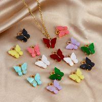Schmetterlings-Anhänger-Charme-DIY Herstellung von Schmuck Zubehör Acryl-Anhänger-passende für Halsketten Ohrringe Armbänder Bohemian Tier Charm Schmuck