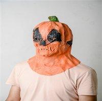 2020 Хэллоуин тыквы маски Cosplay Маска для лица Конструкторы Унисекс Террор Страшные маски Обложка фестиваль для вечеринок Игрушки Подарки LY9273