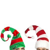 Christmas Hats Long Striped Felt Hat Christmas Cap Holiday T...