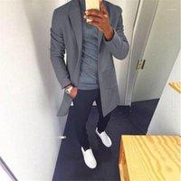 Jacken beiläufige Art und Weise Revers-Ausschnitt Langarm-Mischungen Mäntel der neuen Ankunfts-Männer Kleidung 19AW Herren Designer