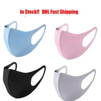 In Stock New Anti Dust Face Mouth Cover PM2.5 Mask Respirator Dustproof Anti-bacterial Washable Reusable Ice Silk Cotton Masks Tools