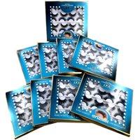 New Style 12 Paar Multi Pack 3D-Nerz-Haar-falsche Wimpern handgemachte natürliche lange Wimpern Wispy Fluffy Mehrschichtige Lashes Wiederverwendbare