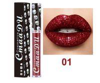 2020 nuevo maquillaje CmaaDu Mate 6 colores lápiz labial líquido a prueba de agua y de larga duración cráneo Tupe Barras de labios Lip Gloss Maquillaje