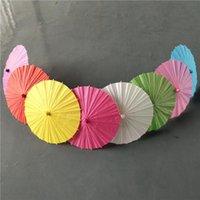 المظلات الزفاف الزفاف المظلات ورقة ملونة صغيرة الصينية مظلة الحرفية المظلات القطر 40CM الزفاف للDHL مجانا الجملة
