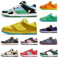 Dunk Tıknaz Dunky Düşük Erkek Kadın Koşu Ayakkabıları Sashiko Ayılar Yeşil Opti Sarı Acg Terra Champ Renkler Erkek Eğitmenler Spor Sneaker