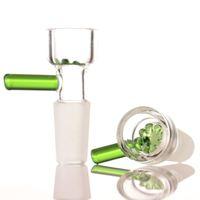 기타 흡연 액세서리 도매 14mm 18mm 그릇 남성 합동 꽃 눈송이 필터 그릇 유리 물 봉에 대 한 4 색