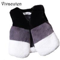 Herbst-Winter-Baby-Pelz-Weste Kind-Oberbekleidung Mäntel Eindickung Warme Westen Kind Patchwork Faux Fur weiche Kleidung