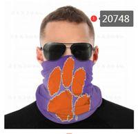 Maschere NCAA Clemson Tigers senza saldatura Buff Sciarpa Shield Bandana viso Protezione UV per il motociclo in bicicletta riding Cerchietti