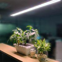 4ft T5 HO LED Dahil Çekme Zincir Kapalı / Işıklar Çift Şerit Bar Tam Spektrum Entegre ON, içinde lamba Fikstür, Plug Büyüyen büyütün