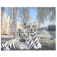 Diamante ricamo Vendita White Tiger completa diamante Pittura Punto Croce 5D mosaico del diamante resina Drill fai da te Hobby Factory Direct