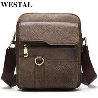 WESTAL shoulder bags for men leather bag male mens bag genuine leather mini messenger crossbody bags small flap sac homme 8980