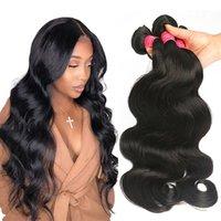 9A ola de cuerpo peruano Virgin Hair 3 paquetes sin procesar peruano cabello humano onda onda paquetes gagaques brasileño Virgen de tejido de tejido