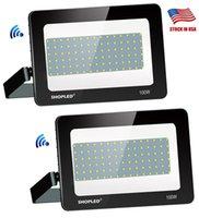 LED Floodlight 100W 200W 300W 85-265V IP66 Waterdichte Smart Driver LED Flood Light Spotlight Outdoor Wall Lamp Garden Projectors + Amerikaanse aandelen