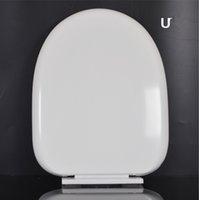 Kunststoff Toilettendeckel Toilettensitzabdeckung Oval und Quadrat Schlagspannung / Covers langsamer Abfall / Mute Sitz neu auf dem Seeweg GGA3676