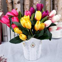 الزهور الزهور أكاليل 9head 30 سنتيمتر الاصطناعي زهرة باقة ريال اللمس الحرير توليب للحزب الزفاف المنزل diy ديكورات