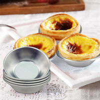 Egg Tart Mold Baking Moulds Homemade Pie Quiche Baking Pan Cookies Pudding Mould Aluminum Alloy DIY Tools HHA1552