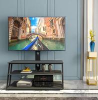 Быстрая доставка мебели Черный Многофункциональный угол и высота Регулируемая закаленное стекло Подставка Гостиная Мебель W24104953