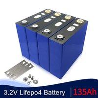 16 ADET LIFEPO4 3.2 V 135AH Lityum Demir Fosfat Hücreli Hiçbir 3.2 V 120AH 100AH LIFEPO4 DIY 24 V 12 V 48 V Inverter Scooter RV Caravan